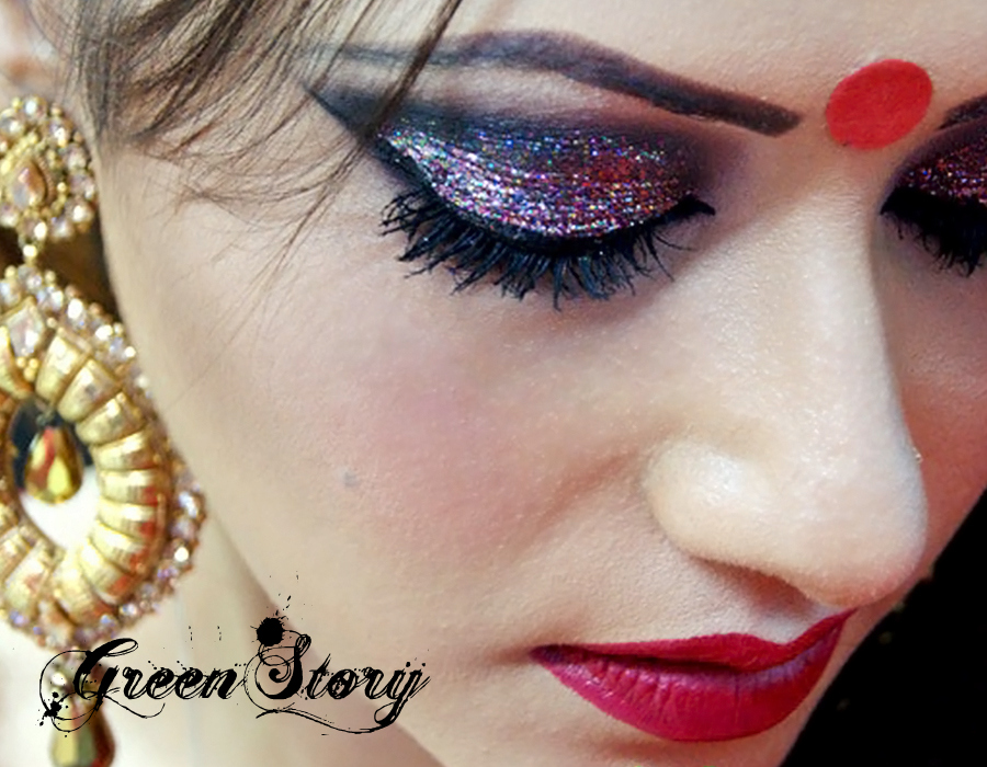 'Durga Puja 2013' featuring Makeup