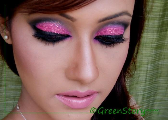 Black & Pink Cut Crease Eye Look