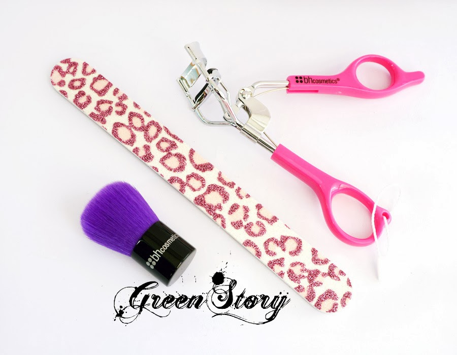 BH Cosmetics Eye lash Curler, Nail Filer and Kabuki Brush