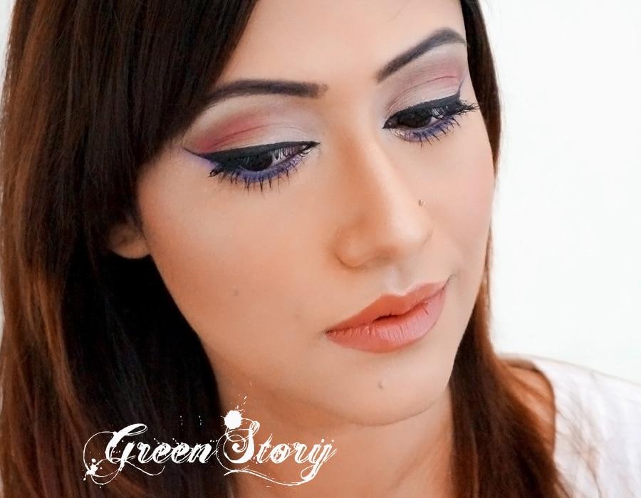 Soft Red EyeLook   Pohela Boishakh