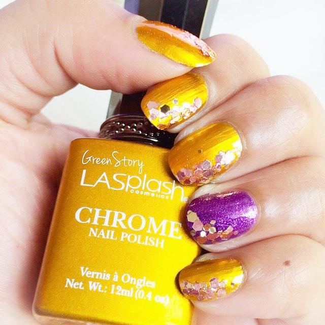LASplash Chrome Nailpolish in Gold