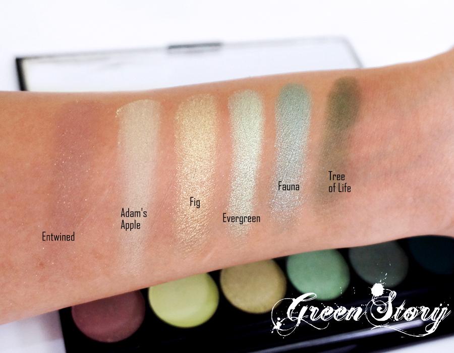 Sleek Garden Of Eden Eyeshadow: Lower Row