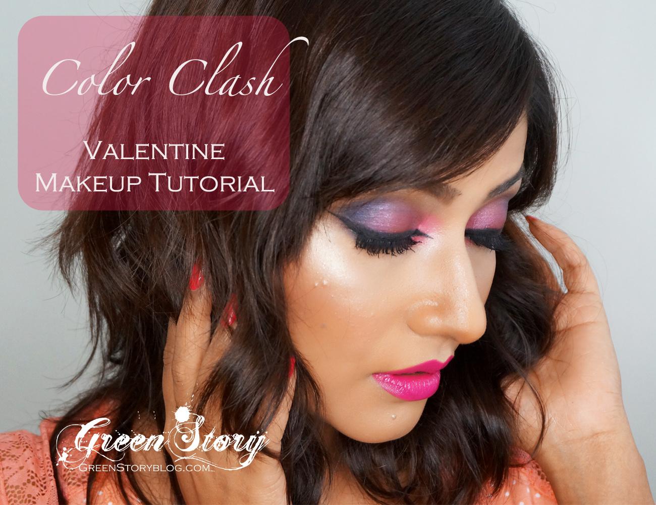 Color Clash | Valentine Makeup Tutorial