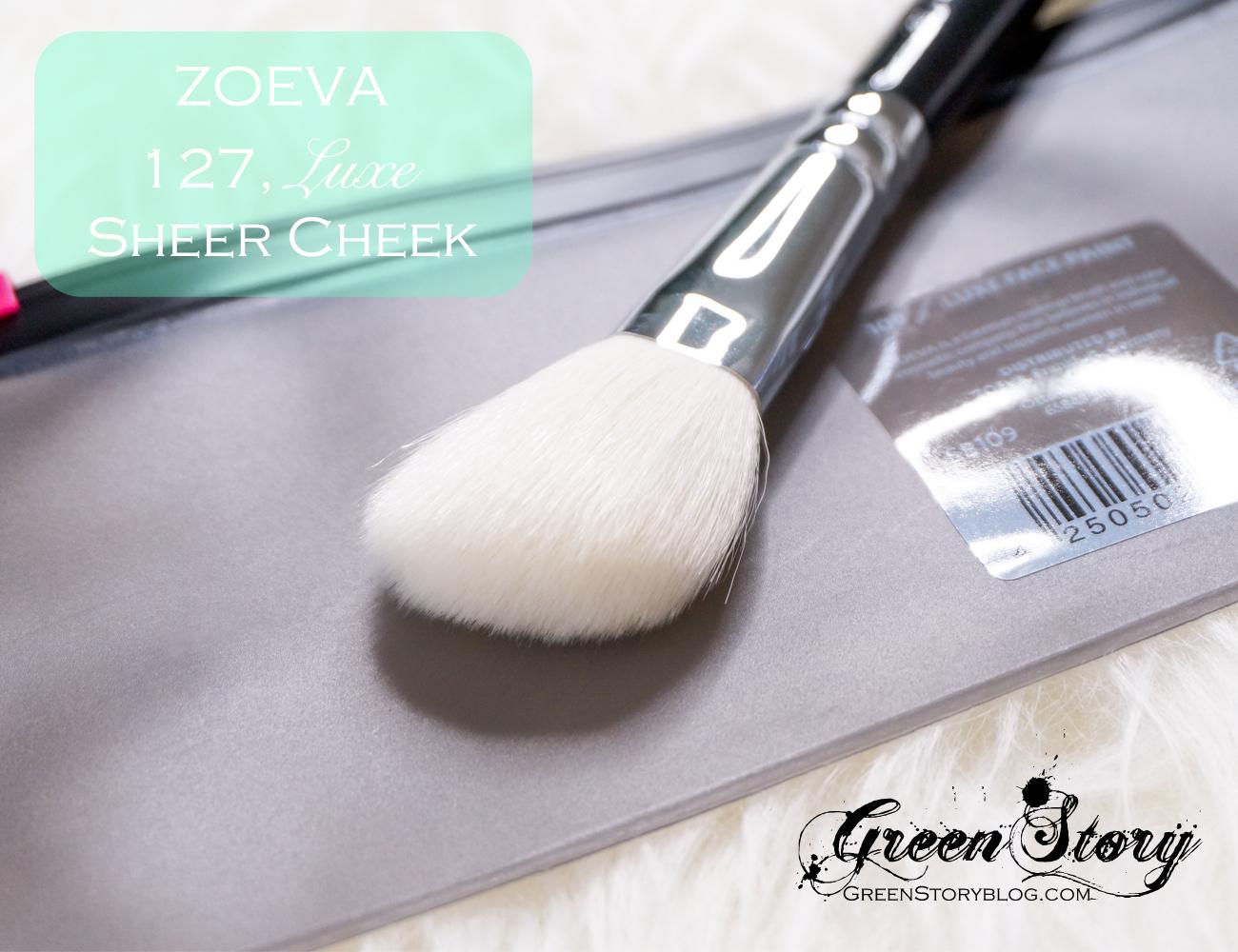 127 Luxe Sheer Cheek Face makeup brush