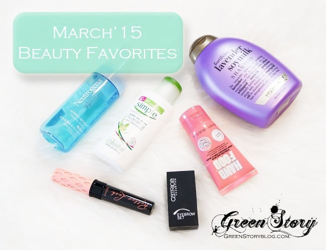 March'15 Beauty Favourite
