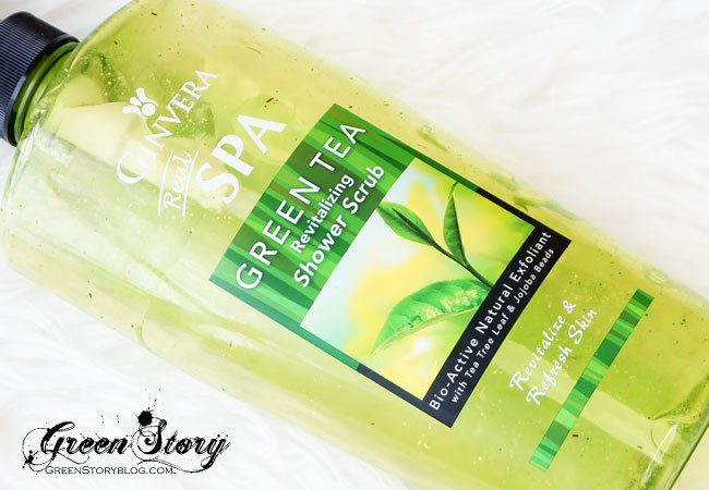 Ginvera GreenTea Revitalising Shower Scrub
