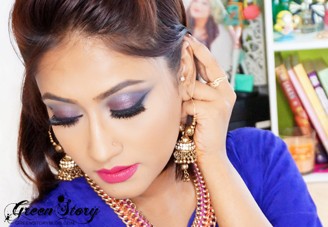 Purple Blue Smokey Eye Makeup