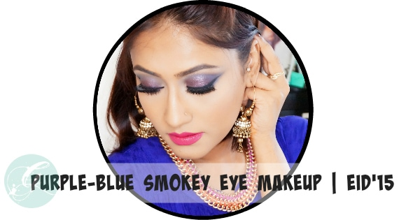 Purple Blue Smokey Eye Makeup