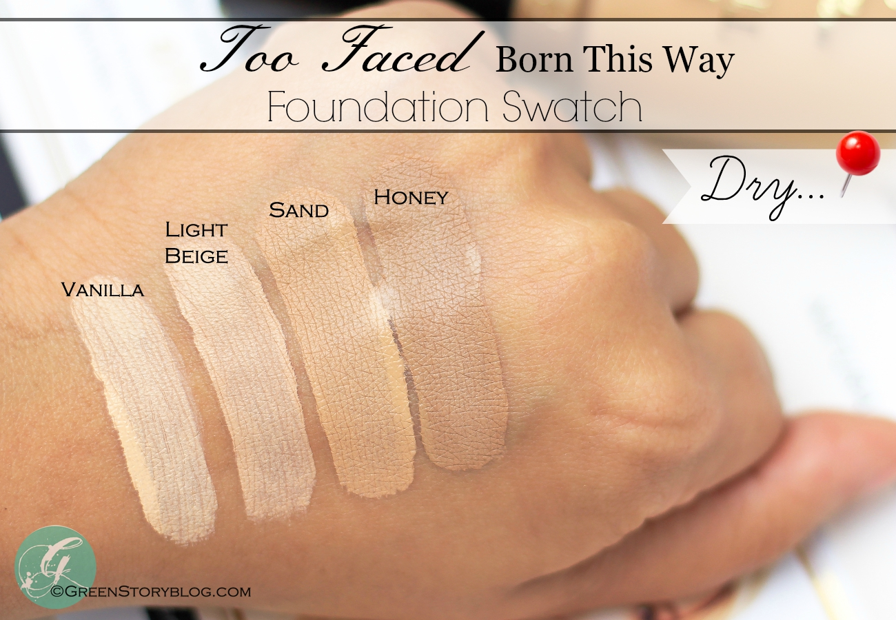 Too Faced Born This Way Foundation Swatch
