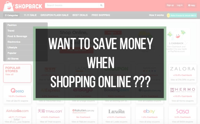 Save money via shopback
