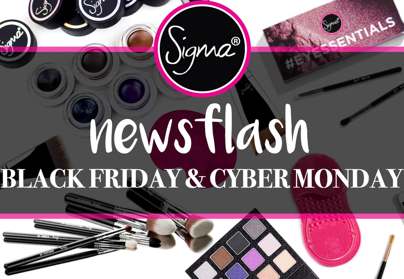newsflash black friday promotion sigma beauty. Black Bedroom Furniture Sets. Home Design Ideas