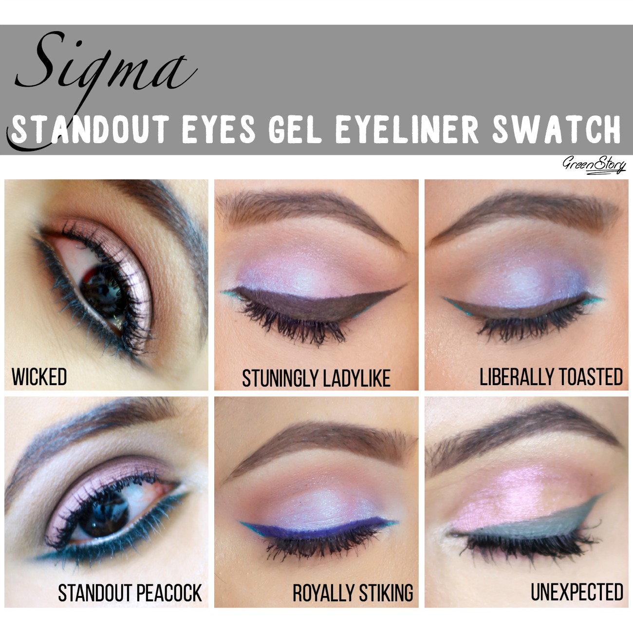 Sigma Gel Liner eye swatch