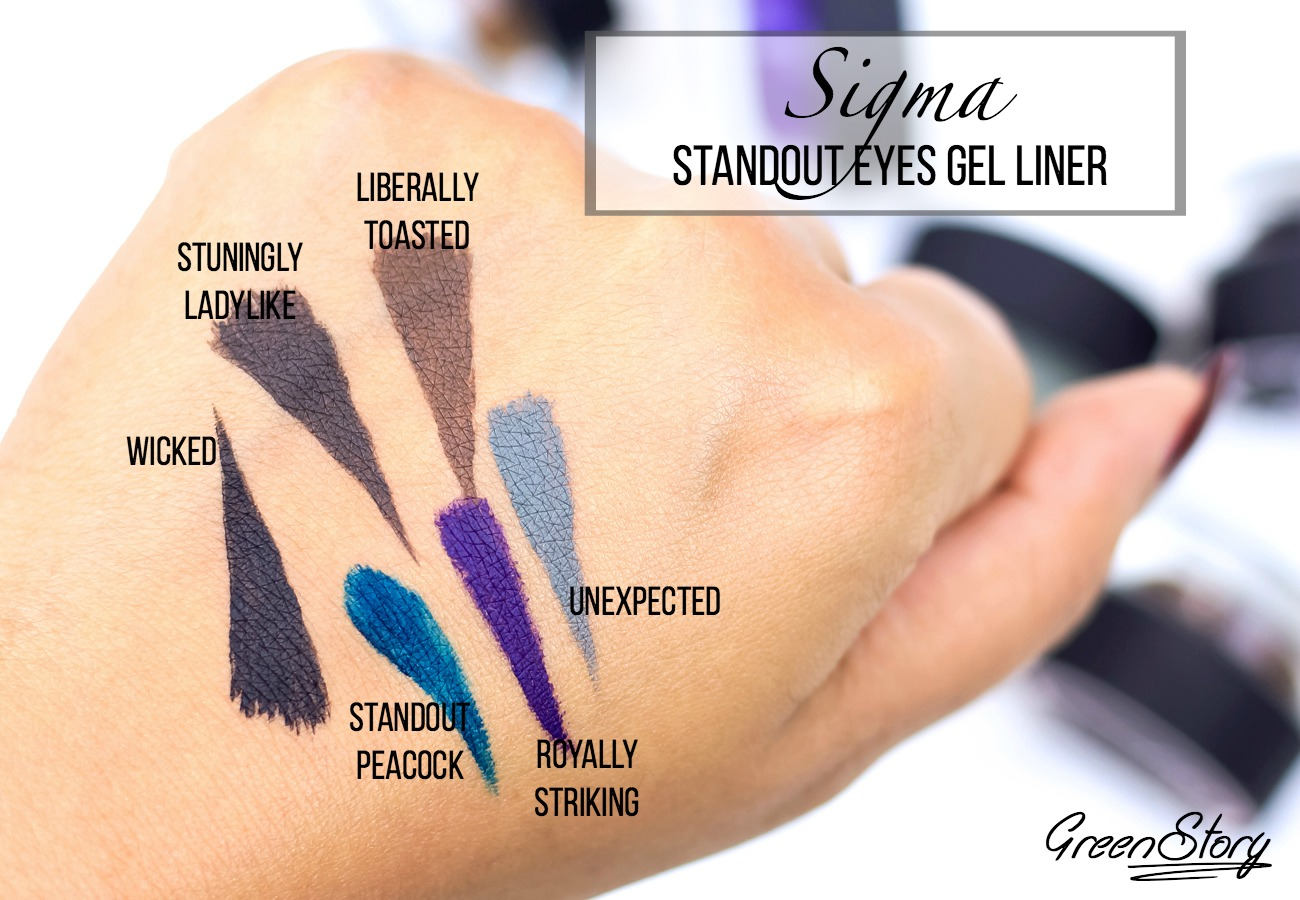 Sigma Standout Eyes Gel Liner Swatch