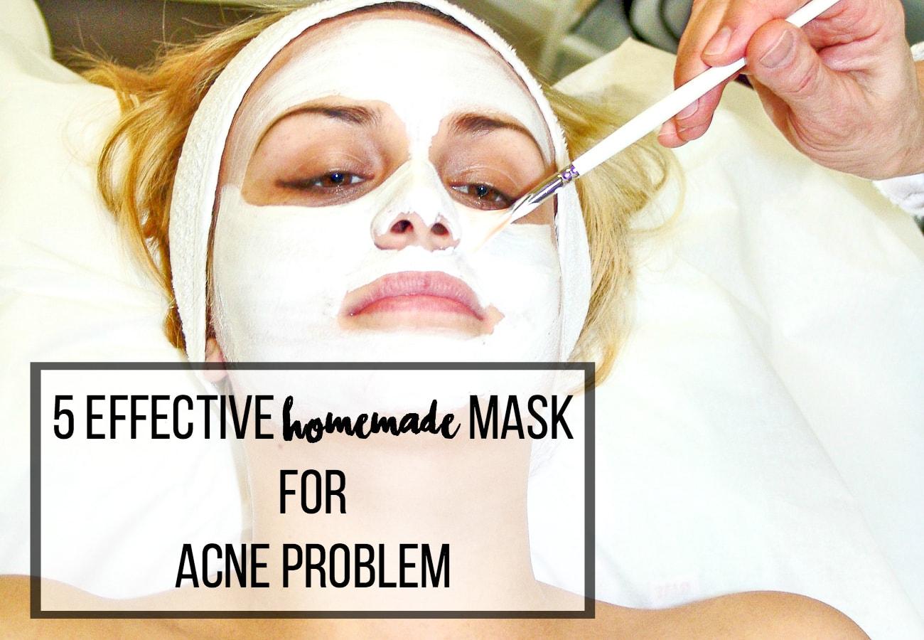 home made masks for acne