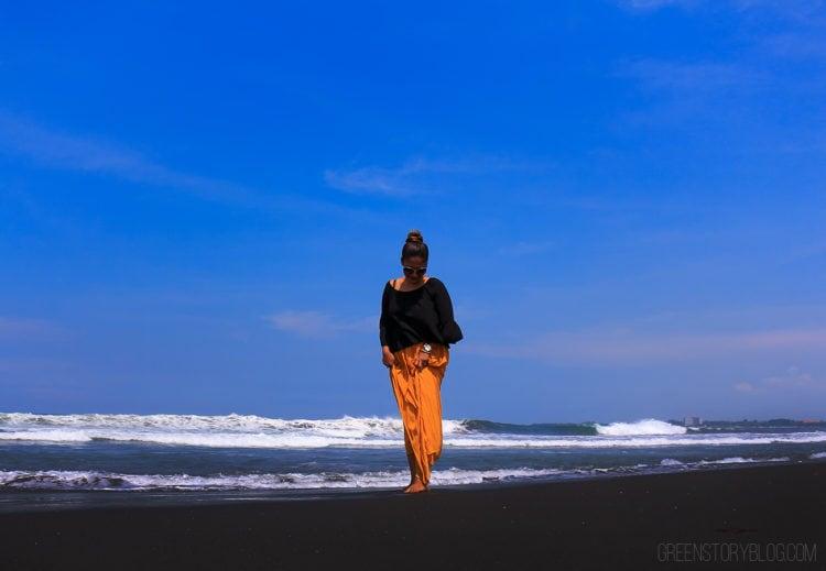 Bali Black Sand Beach