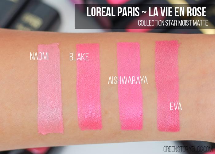 Loreal Paris La Vie En Rose Moist Matte Lipstick Swatch
