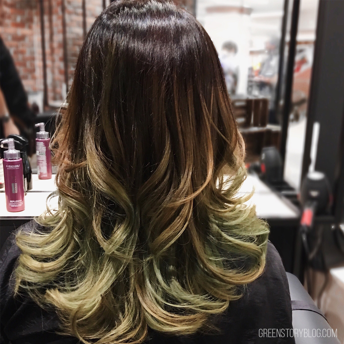 Green Ombre Hair
