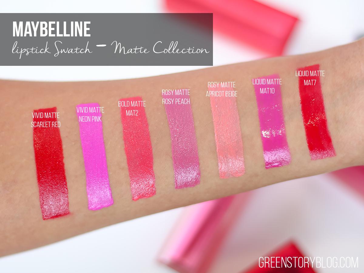 Maybelline Matte Lipstick Swatch