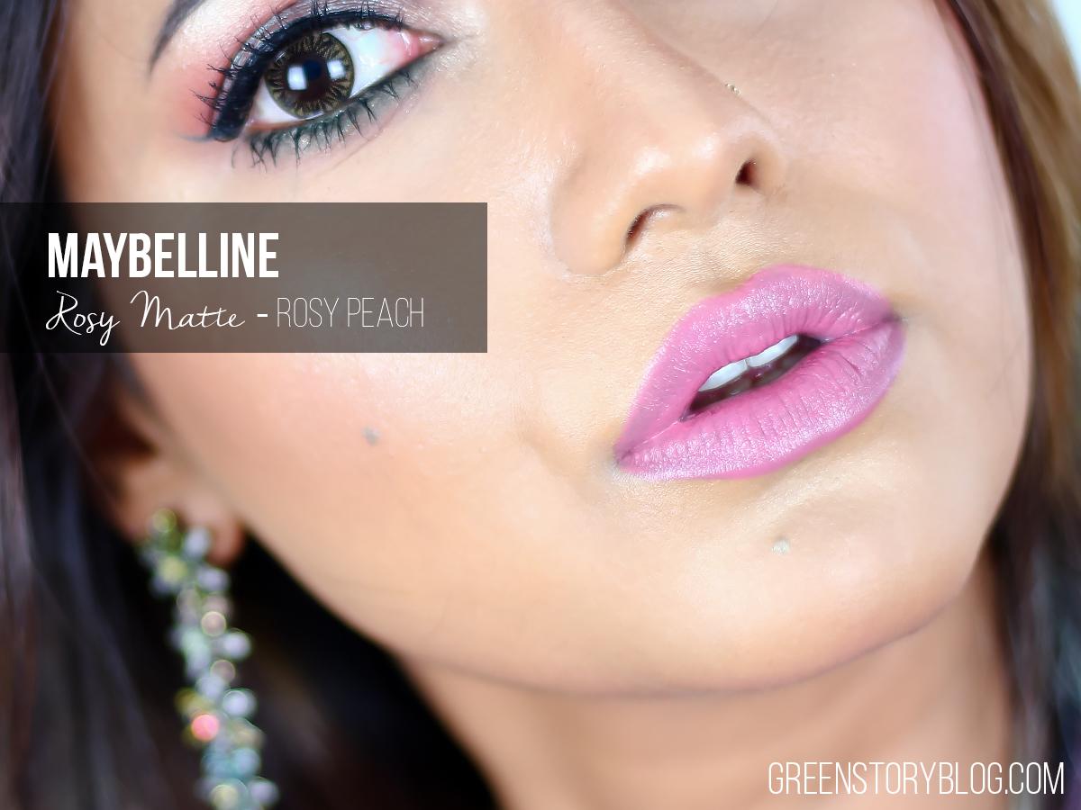 Maybelline Rosy Matte Lipstick - Rosy Peach