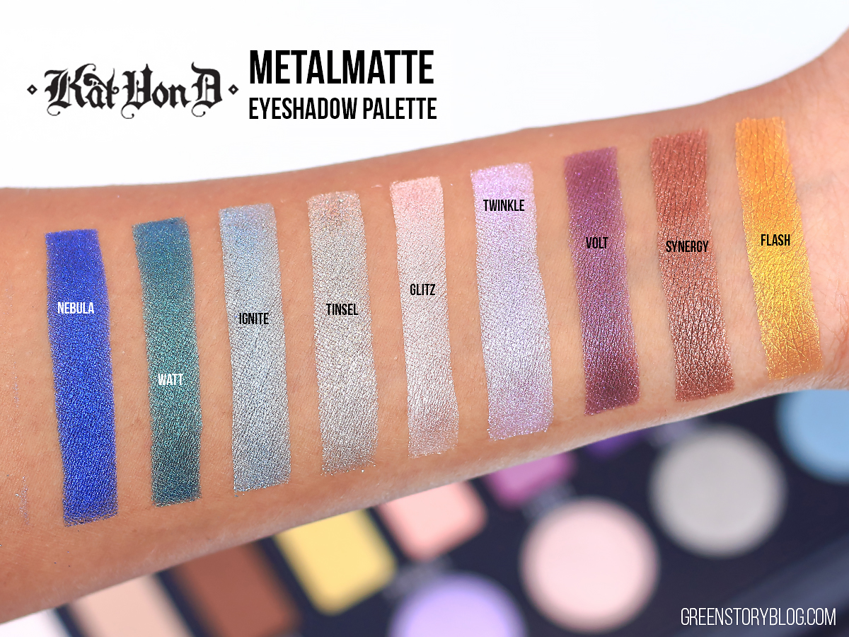 Kat Von D Metal Matte EyeShadow Swatch