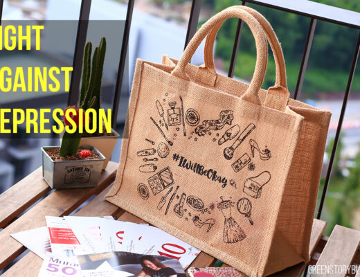 Fight Against Depression | I Will Be Okay Beauty Bag