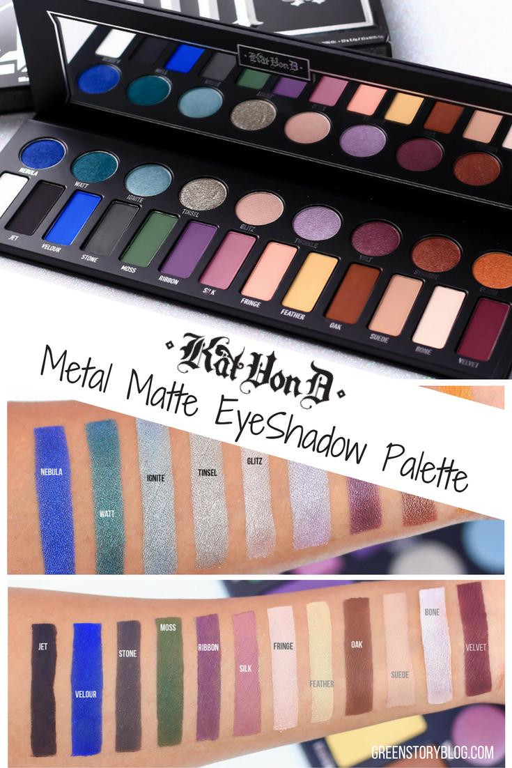 Kat Von D Metal Matte EyeShadow Palette | Review & Swatch