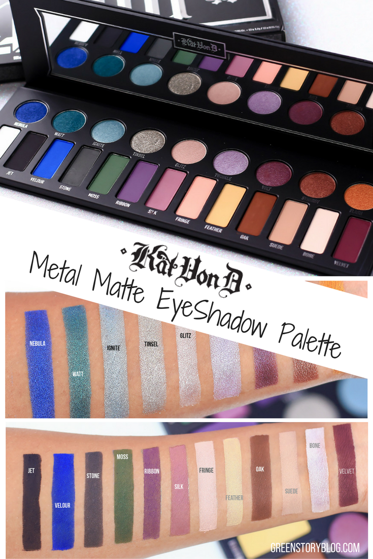 Kat Von D Metal Matte EyeShadow Palette | Review & Swatch