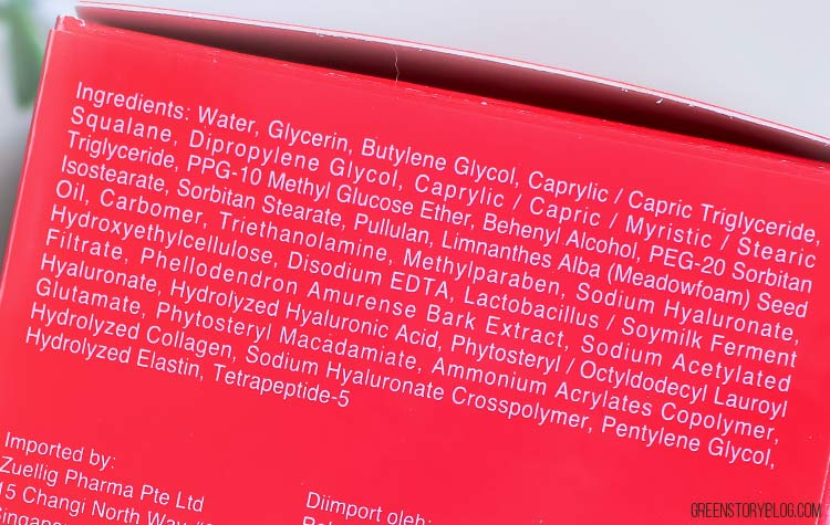 HADA LABO Gokujyun Alpha [ Lifting+Firming] Cream Ingredient