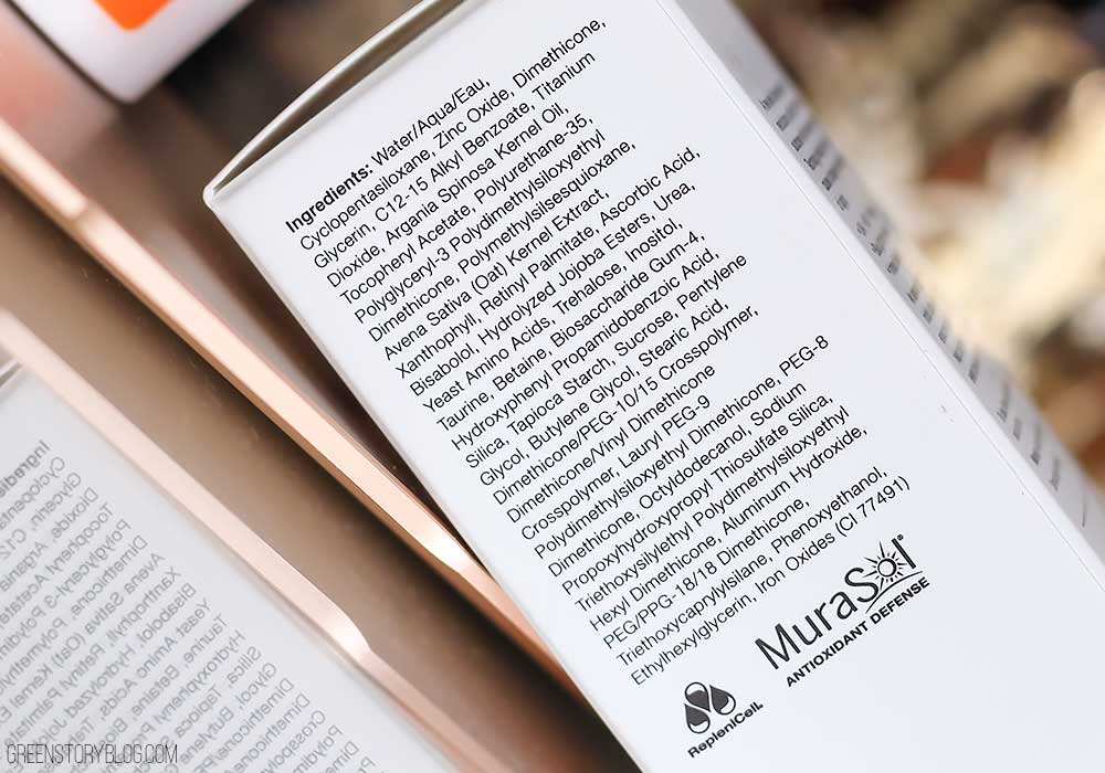 Stay Bright, Shine Free and Protected with Murad City Skin Age Defense Mineral Sunscreen ingredients