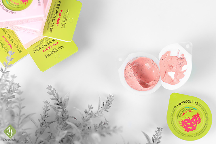 Half Moon Eyes Pink Fruity Wash Off Mask | 10 Minute Oil-free, Bright Skin