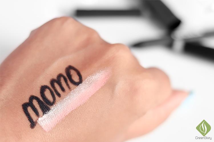 COC Momo Waterproof Gel Eye Liner and Hey Nature Dual Eyeshadow Stick swatch