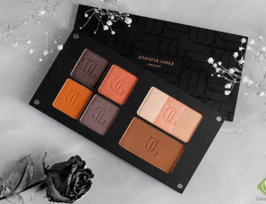 Jennifer Lopez Inglot collection - eyshadow, sculpting powder and highlighter Trio | JLO glow