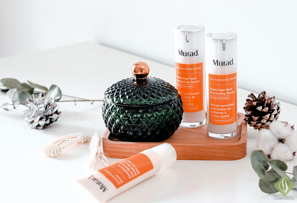 Vitamin C skincare for pregnant skin - Rapid Age Spot Correcting Serum & Essential C Day Moisture | Murad Environmental Shield