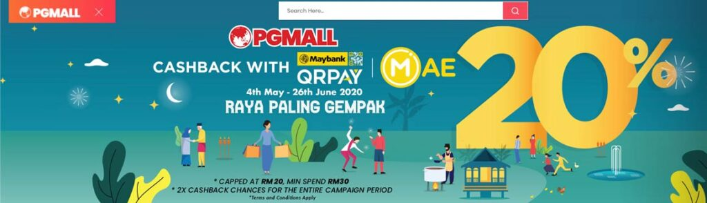 pg mall cashback with maybank qrpay
